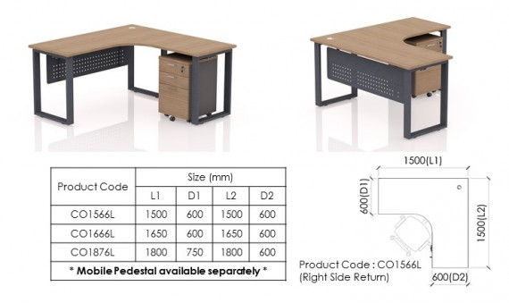 Freestanding Desk CO1566L