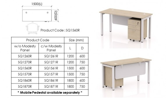 Freestanding Desk SQ1560R