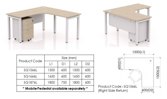 Freestanding Desk SQ1566L