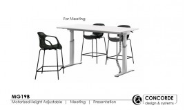 Motorised Foldable Height Adjustable Table