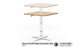 Manual Gaslift Height Adjustable Table