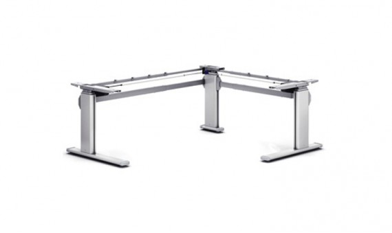 Motorised Height Adjustable Table L Shape