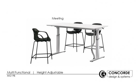 Foldable Motorised Height Adjustable Table